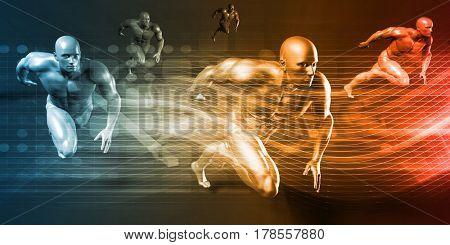 Science Technology and Innovation Design System as Concept 3D Illustration Render
