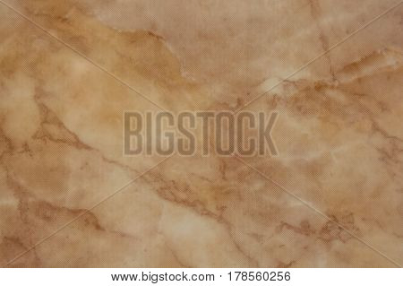 Closeup of beige marble natural texture pattern