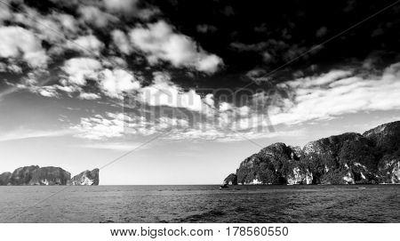 Dark Horizon Colorless Seascape
