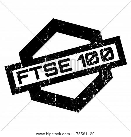Ftse 100 rubber stamp. Grunge design with dust scratches. Effects can be easily removed for a clean, crisp look. Color is easily changed.