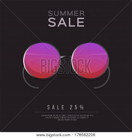 Sunglasses, Summer sale Design layout for banners