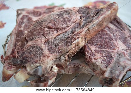 florentine beefsteak namely cow meat thick cut