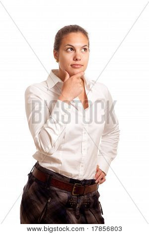 Young Businesswoman Thoughtful