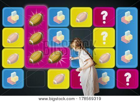 Ball Bricks Rugby Secret Question Matching