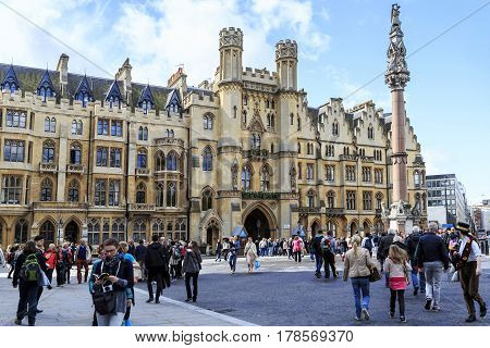 LONDON, GREAT BRITAIN - MAY 10, 2014: This building is the Royal College of St. Peter which is located next to Westminster Abbey.