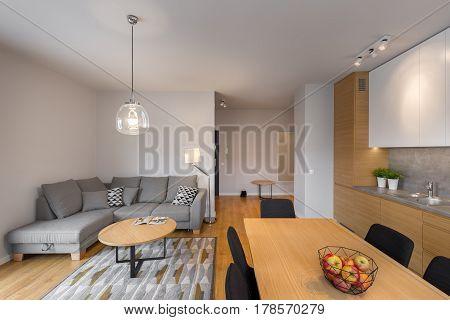 Modern Illuminated Living Room