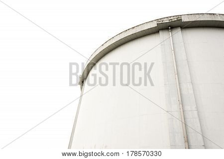 Industrial silos container near view with copyspace