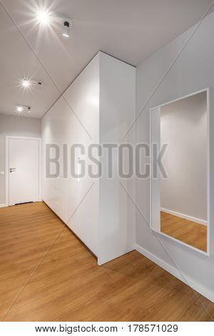 Light Hallway With Big Wardrobe