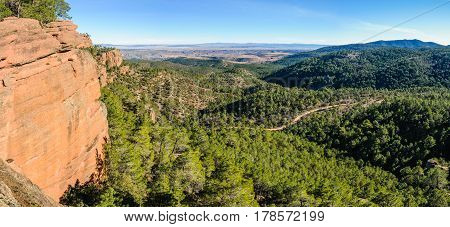 Panoramic View In Pinares Del Rodeno Natural Park, Spain