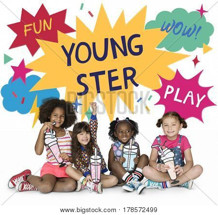 Kids Youngster Enjoy Fun Play Graphic