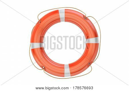 lifebuoy closeup 3D rendering isolated on white background