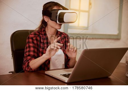 Cute Young Woman With 3D Viewer