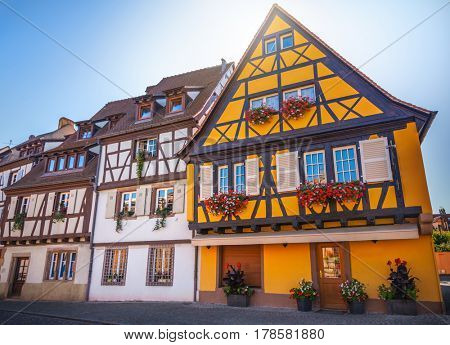 Old half-timbered houses