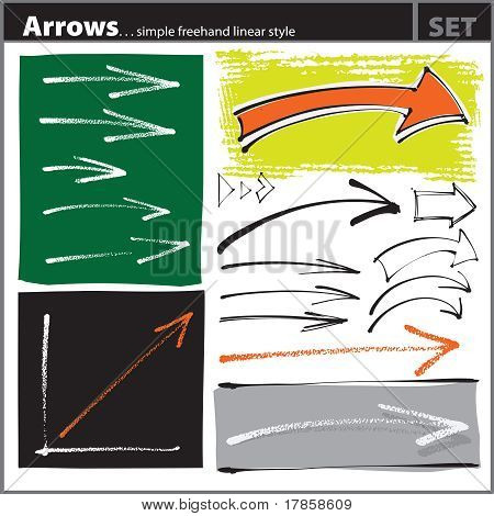 Arrows Set (simple Freehand Style)