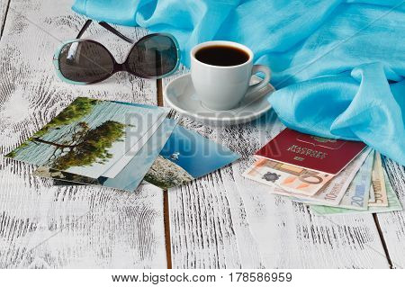 traveling remember concept after trip time with coffee