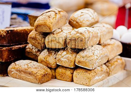 Crunchy Loaves Of Wholemeal Bread
