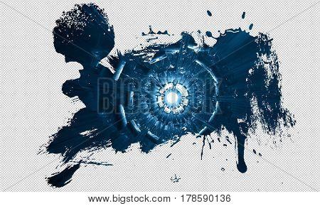 3d technology background