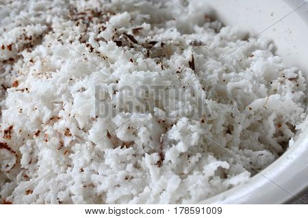 Coconut Flakes Background