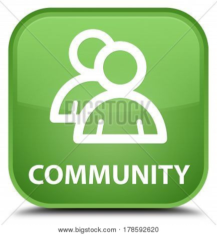 Community (group Icon) Special Soft Green Square Button