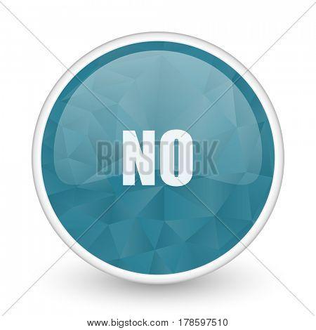 No brillant crystal design round blue web icon.
