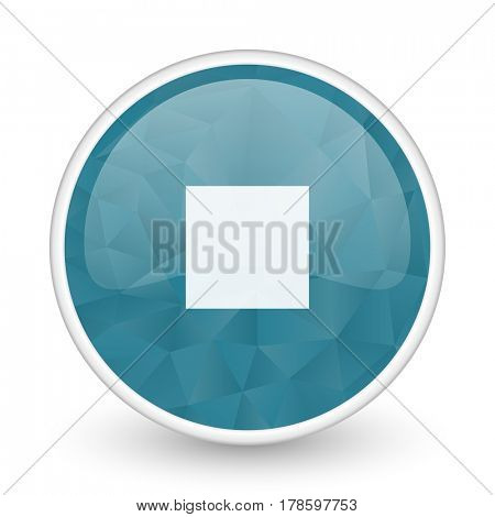 Stop brillant crystal design round blue web icon.