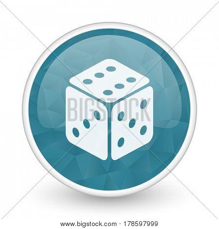 Game brillant crystal design round blue web icon.