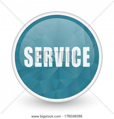 Service brillant crystal design round blue web icon.