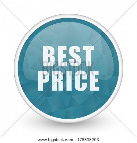 Best price brillant crystal design round blue web icon.