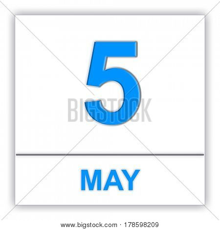 May 5. Day on the calendar. 3D illustration