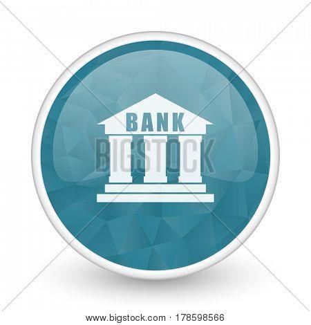 Bank brillant crystal design round blue web icon.
