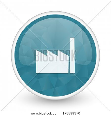 Factory brillant crystal design round blue web icon.