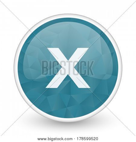 Cancel brillant crystal design round blue web icon.