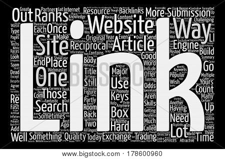 How To Get Multiple Backlinks From Article Submissions text background word cloud concept
