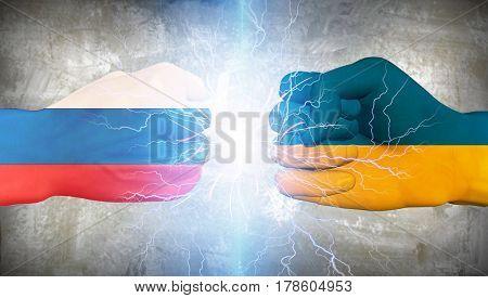 Ukraine vs Russia   3D Rendering