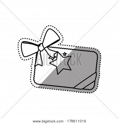 Shopping gift card vector illustration graphic design