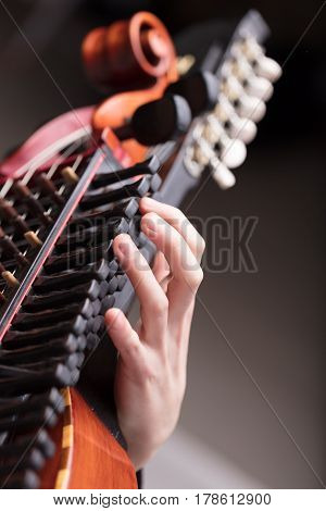 Hands On A Baroque Musical Instrument