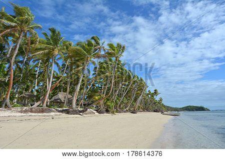Landscape Of A Tropical Beach Resort In Fiji