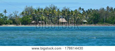 Panoramic Landscape View Of Nanuya Levu Island In Fiji