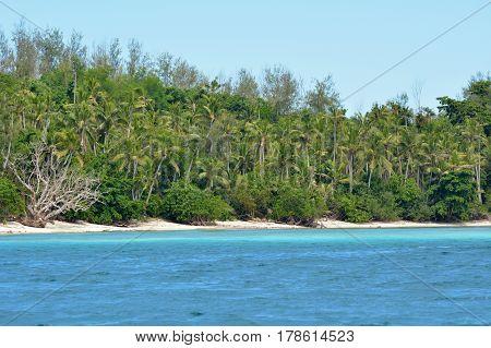 Landscape Of A Remote Tropical Beach In Nanuya Levu Island Fiji