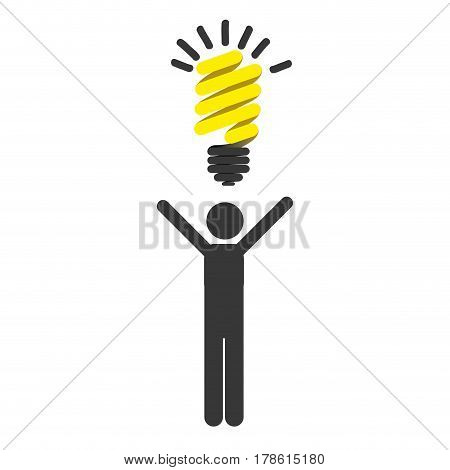 person with good idea icon, vector illustration design