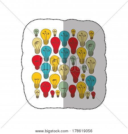 bulb light energy background icon, vector illustration design