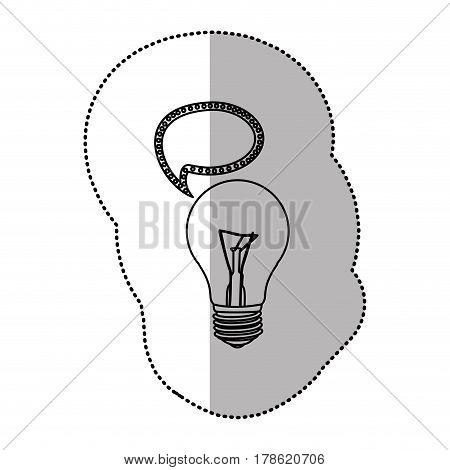 bulb with bubble communication icon, vector illustration