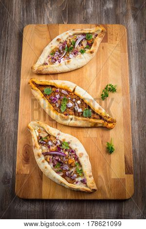 Filled Pita bread with chicken and vegetables