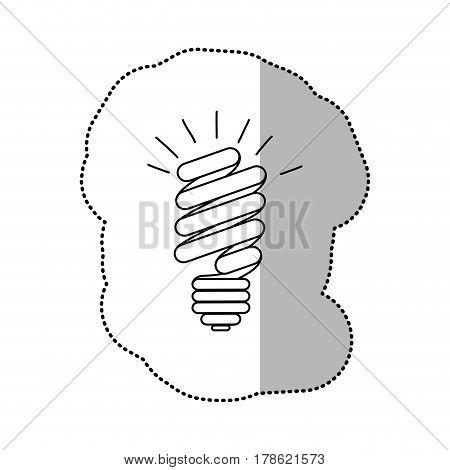 energy save bulb power icon, vector illustration design