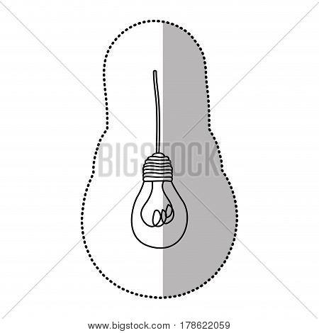 light bulb hanging icon, vector illustration design