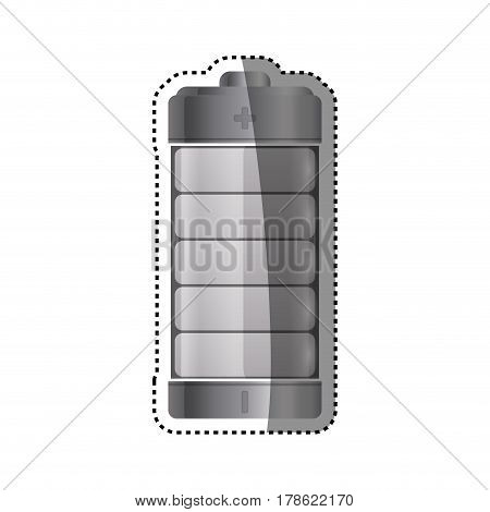 Eletric battery rechargeable vector illustration graphic design
