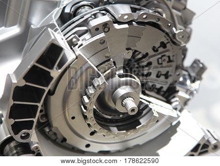 Automotive wheel hub mechanism sectional view