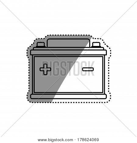 Battery car isolated vector illustration graphic design