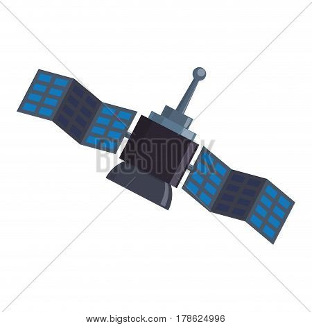 Space satellite technology vector illustration graphic design