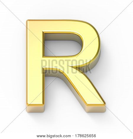 Matte Gold Font R